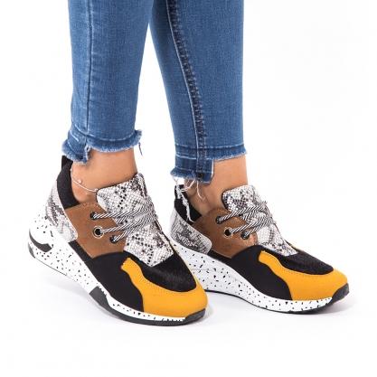 Sneakers με συνδυασμό υλικών & χρωμάτων