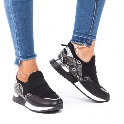 Slip on sneakers με animal print