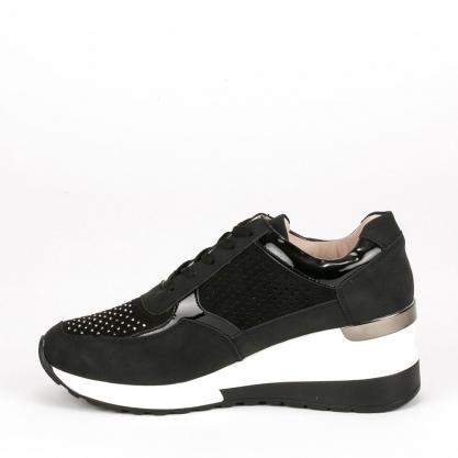 Sneakers πλατφόρμα με στρας