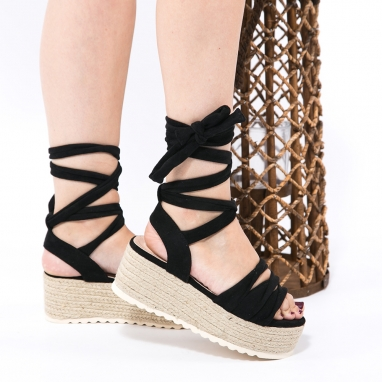 Suede lace up πλατφόρμες
