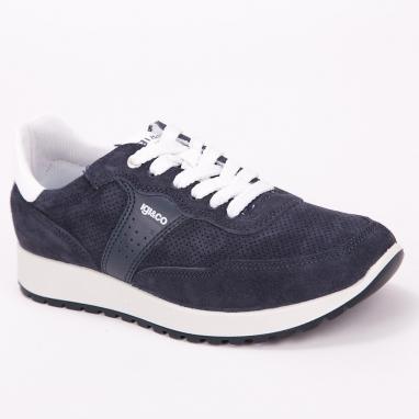Μπλε δερμάτινα sneakers IGI & CO