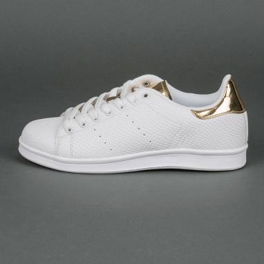 Λευκά sneakers με ανάγλυφη επιφάνεια