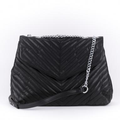 Μαύρη τσάντα καπιτονέ