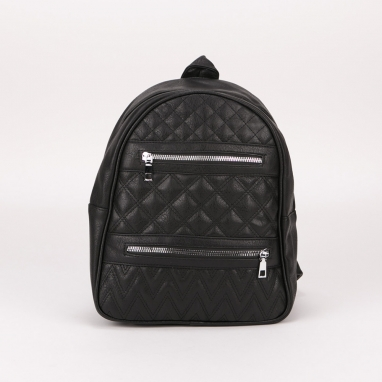 Καπιτονέ τσάντα πλάτης με οριζόντια φερμουάρ