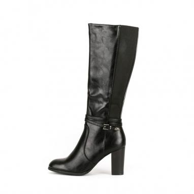 Μπότες με τακούνι και διπλό ζωνάκι