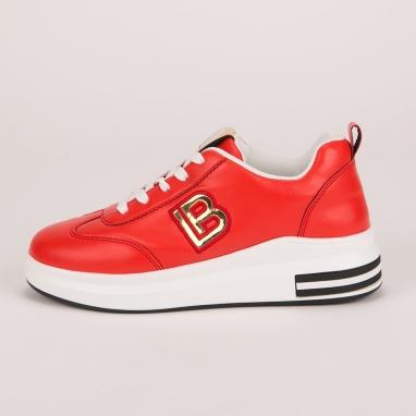 Κόκκινα sneakers Laura Biagiotti με πλατφόρμα