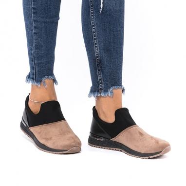Slip on sneakers με συνδυασμό υλικών