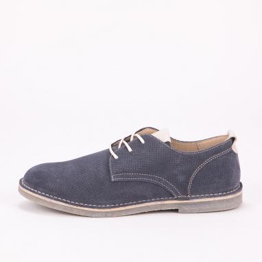 Μπλε suede δετά παπούτσια IGI & CO