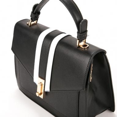 Τσάντα χειρός με ρίγες