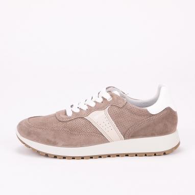 Μπεζ δερμάτινα sneakers IGI & CO