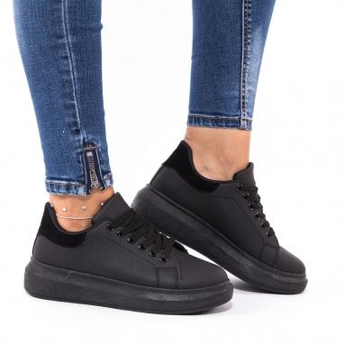 Μαύρα δίσολα sneakers