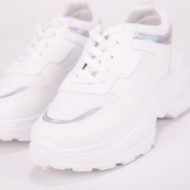 Chunky sneakers με holographic λεπτομέρειες