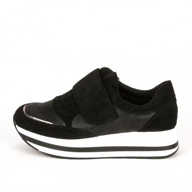 Suede sneakers με βέλκρο