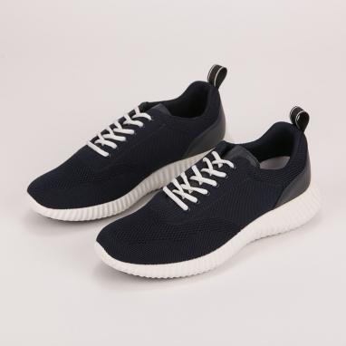 Ανατομικά μονόχρωμα μπλε sneakers IGI&CO