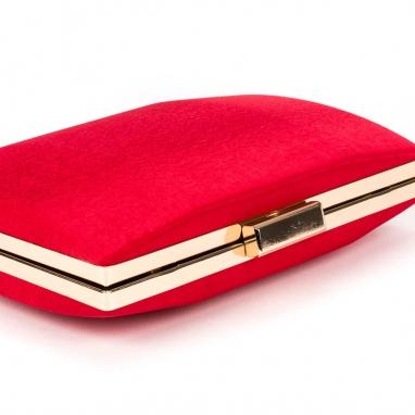Κόκκινο σατέν clutch