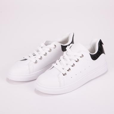 Basic sneakers  με κροκό στο πίσω μέρος