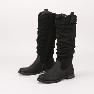 Φλατ western look μπότες