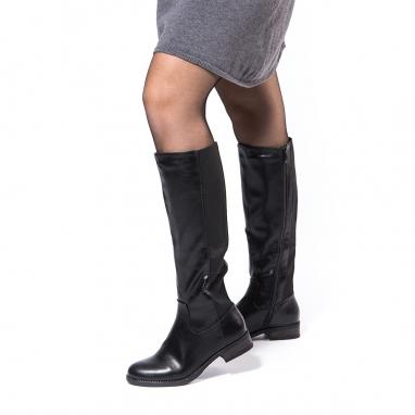 Μαύρες μπότες ιππασίας με λάστιχο